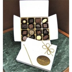 White gift box - 16 chocolates $32.50 Contains 16 assorted chocolates Please note that as every box is packed differently the precise assortment shall vary from the one pictured but be of equivalent quality If. Please Click the image for more information.