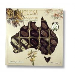 Bushtucka&#8482 Box 32 chocolates $45.00 Real native Australlian ingredients used including Kakadu plum native peppermint native aniseed wattleseed and native lemon myrtle Nati. Please Click the image for more information.