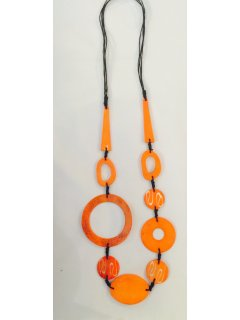 10788C ORANGE FASHION NECKLACE Please Click the image for more information.