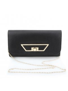 H0727 BLACK EVENING BAG WITH GOLD CLASP FEATURE Please Click the image for more information.