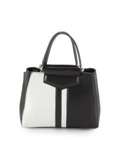H0740B BLACK  WHITE HANDBAG Please Click the image for more information.