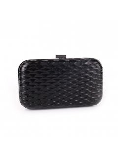 H0742 BLACK HONEYCOMB PATTERN EVENING BAG Please Click the image for more information.