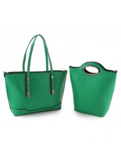 H0750B GREEN DOUBLE HANDBAG COMBINATION Please Click the image for more information.