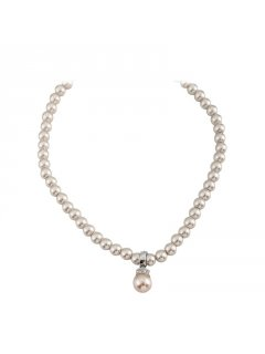 10800B MOCHA PEARL NECKLACE WITH DROP Please Click the image for more information.