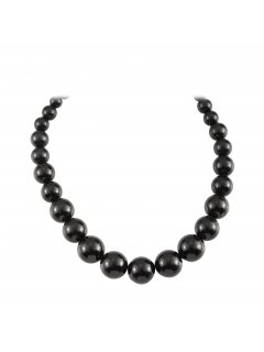 10811A BLACK GRADUATED PEARL NECKLACE Please Click the image for more information.