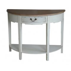"""Homestead"" Half Moon Hall Table Console 98cm ON DISPLAY AT CASTLE HILL FURNITURE SHOWROOMThis beautiful Homestead Half Moon Hall Table Console  with its white distressed finish and will add the perfect touch to your home  For a sim. Please Click the image for more information."