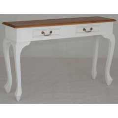 Maison 2 Drawer Timber Hall Console Table White Caramel The Maison Mahogany 2 Drawer Timber Hall Table is the perfect combination of quality beautiful design and great value for money Ma. Please Click the image for more information.