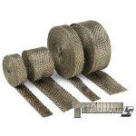 DEI TITANIUM EXHAUST WRAP   2''X50' DEI Titanium exhaust wrap with LR Technology is made from pulverized lava rock and stranded into a fiber material and is engineered to be stronger than typical wraps on the market today I. Please Click the image for more information.