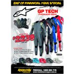 Alpinestars GP TECH Package Deal Package includes          GP Tech suit choice of 5 colours          Tech 1ZX shoes          Tech 1Z shoes         Offer ends 31st JULY 2016 Please Click the image for more information.