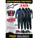 Alipnestars K-MX9 Package Deal Package Includes              KMX9 Kart Suit choice of 4 colours              Tech 1K Race Gloves  choice of 4 colours              Tech 1K shoes choice of 3 colours             Offer ends 31st June 2016 Please Click the image for more information.