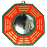 Convex Bagwa Mirror, Red and Green, 100mm diameter Convex Bagwa Mirror Red and Green 100mm diameter Please Click the image for more information.
