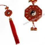 Bagwa with Yin Yang hanging Bagwa with yin yang hanging Red  Gold 50mm diameter double sided in early heaven sequence Please Click the image for more information.