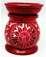 Sun Red Carved Oil / Wax Melt Burner - $15.00 Sun Red Carved Oil  Wax Melt Burner  25 inch Please Click the image for more information.