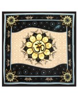 Om in Lotus Altar Cloth - $25.00 The lotus is a symbol of purity peace beauty rebirth and fertility Considered to be of divine origin the lotus rising above the water is an inspiration to reach enlightenmentThese. Please Click the image for more information.
