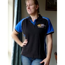 WWR 2012 Polo Really nice quality black polo with contrasting coloured sleeves and side panels with white piping  Embroidered with the WWR logo on the front and with the option of the WWR dates screened on the back in ink matching the contrast colour extra $5Ladi. Please Click the image for more information.