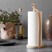 By Wirth Hands On Paper Towel Holder Hands On Paper Towel Holder is made with scandinavian oak and the strap is made from leather A beautiful Scandinavian design with materials that will grow more beautiful with timeB. Please Click the image for more information.