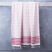Sheker Towel Candy Stripes in Rose/Flamingo This Turkish Towel makes a perfect beach towel as it is compact and fast drying Alternatively get creative and use it as a blanket wrap scarf or throw Please Click the image for more information.