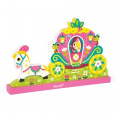 Janod magnetic vertical princess puzzle Nine wooden pieces depicting a princess in her coach form the Janod Princess Magnetic Vertical Puzzle. Please Click the image for more information.