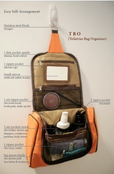 TBO (Toiletries Bag Organiser) Functions Specially for those smart men  women who travel a lot either for vacation or company duty to other city and country or just go to the fitness centre  swimming club Carry all y. Please Click the image for more information.