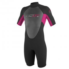 O'Neill Youth Girls Hammer 2mm Spring ONeil Girls Youth Hammer Short Sleeve Spring Wetsuit come with 2mm highstretch Neoprene Flat Lock Seams and a Back Zip Please Click the image for more information.