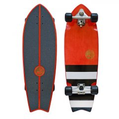 "HB Slide Fish 32"" Surf Skate Cruiser Complete Hot Buttered 45 years in the game have brought us the best surfskate weve ever ridden  Featuring their proprietary Slide carve truck system this board blurs the boundary between water and concrete waves  Get so. Please Click the image for more information."