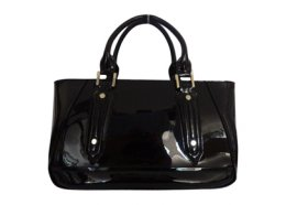 Genuine Patent Leather Bag Genuine patent leather bag with gold fittings Please Click the image for more information.