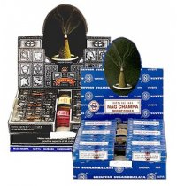Satya Incense Cones Satya Nag champa incense cones are sold in a wholesale box of 12 packets with 10 incense cones in each. Please Click the image for more information.