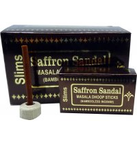Nandita Saffron Sandal Dhoop (B/12) Nandita Saffron Sandal Dhoop is a bambooless incense with a mixture of sandalwood and saffron Nandita Saffron Sandal Dhoop sticks come in a wholesale pack of 12 boxes with 18 sticks each . Please Click the image for more information.