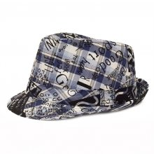 HB SK-010Blu52 Graffiti Kids Fedora Blue 52 cm Please Click the image for more information.