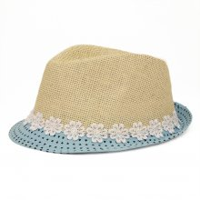 HB SK-013Blu54 Heart Kids Fedora  Blue 54 cm Please Click the image for more information.