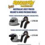 Helmet and HANS Package_November 2015 This is the most unbelievable value Helmet  HANS package available A Racelid open or full face helmet with a HANS Sport 2 20 degree head and neck restraint and it includes helmet postsAvail. Please Click the image for more information.