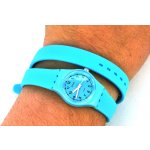 Loot Double Wrap Lightweight  Diva double wrap watch in a variety of colours featuring clear index markings on a matching case and rubber strap. Please Click the image for more information.