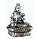 Brass Finish Quan Yin statue Brass Finish Quan Yin statue Goddess of Mercy and compassionand protector of all children Please Click the image for more information.
