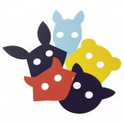 DOIY Chalk Board Masks Chalkboard Masks invite creative play This set of ten masks includes chalk so kids can create their own characters from animals to superheroes the possibilities are infinite Pack contains eight chalkboard masks elastic and two chalk sticksMateri. Please Click the image for more information.