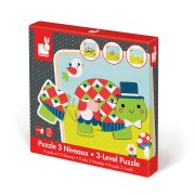 3 Layer Puzzle Turtle The 3 Layer Puzzle Turtle is a jigsaw puzzle with a difference Based on a layering concept this 9 piece puzzle is put together by forming 3 different turtles one on top of the other getting larger as you go Bri. Please Click the image for more information.