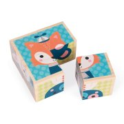 My First Block Forest Portraits Four wooden cubes painted in soft colours are six sided puzzles Put them together the correct way and find each of the animals depicted . Please Click the image for more information.