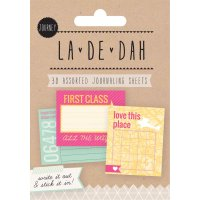 La De Dah Journaling Sheets Journey Make note of your favourite things thoughts or musings with these La De Dah journaling sheets Write it out and stick it in ncludes 30 pages with 10 assorted designs Package. Please Click the image for more information.