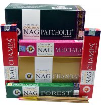 GOLDEN NAG Incense Vijayshree Golden Nag Champa range of incenses are now available in new fragrances made from the richness of nature. Please Click the image for more information.