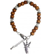 Archangel Bracelet These fragrant infused wood beaded bracelets incorporate a crystal and a complementing Archangel charm. Please Click the image for more information.