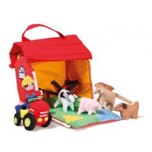 *NEW* O2022 Farm House Brand oskarellenThis lovely bag will provide plenty of farmyard fun and will make children familiar with the most common farm animals pig cow horse dog A farmer . Please Click the image for more information.