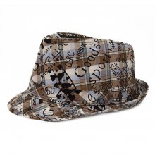 HB SK-010Brn52 Graffiti Kids Fedora Brown 52 cm Please Click the image for more information.