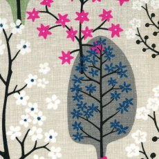 Haga Grey & Sage Haga fabric designed by Swedish designer Bitte StenstramA larger scale whimsical tree and blossom design printed on a beautiful textured cottonlinen blend Haga. Please Click the image for more information.