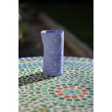 Blue 'Envelope' Papier-Mache Vase This is elegance itself a unique papiermache vasevessel made to order from old banking envelopes A de. Please Click the image for more information.