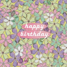 Happy Birthday Floral greeting card design available wholesale thru wwwaeroimagescomau Please Click the image for more information.