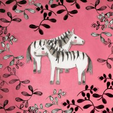 pinky zebras greeting card designavailable for license Please Click the image for more information.
