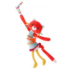 lilliputiens hula cat Gently shake Colette Cat and watch the hula hoops spin around her waist tinkling softly She has a scrunchy paper noise and ribbon whiskers on her face and if you pull her tail she vibrates . Please Click the image for more information.
