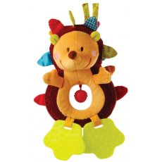 Lilliputiens simon hedgehog rattle Like any good rattle Simon the hedgehog makes the sound of a bell but he has many more attributes than just a bell Simons paws are teething rings Hi. Please Click the image for more information.