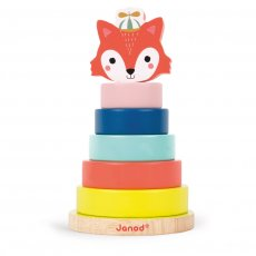 janod fox stacker Great for coordination and shape recognition the Janod Fox Stacker is aimed at littlies who need the poles to help stack their pieces securely but once they are an old hand at puzzles they can stack without the need for a base or create their own zany foxAll Janod toys are designed in France and manufactured to strict quality and safety standards meeting both European and Australian requirements. Please Click the image for more information.