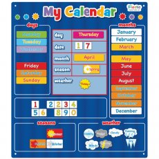 fiesta crafts magnetic my calendar blue A fun daily activity to help the kids learn days dates months and seasons 43 moveable magnetic words and numbers that even incorporate the weather for the day Th. Please Click the image for more information.