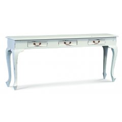 Maison 3 Drawer Timber White Hall Console Table  The Maison White 3 Drawer Hall Table is the perfect combination of quality beautiful design and great value for money Ma. Please Click the image for more information.